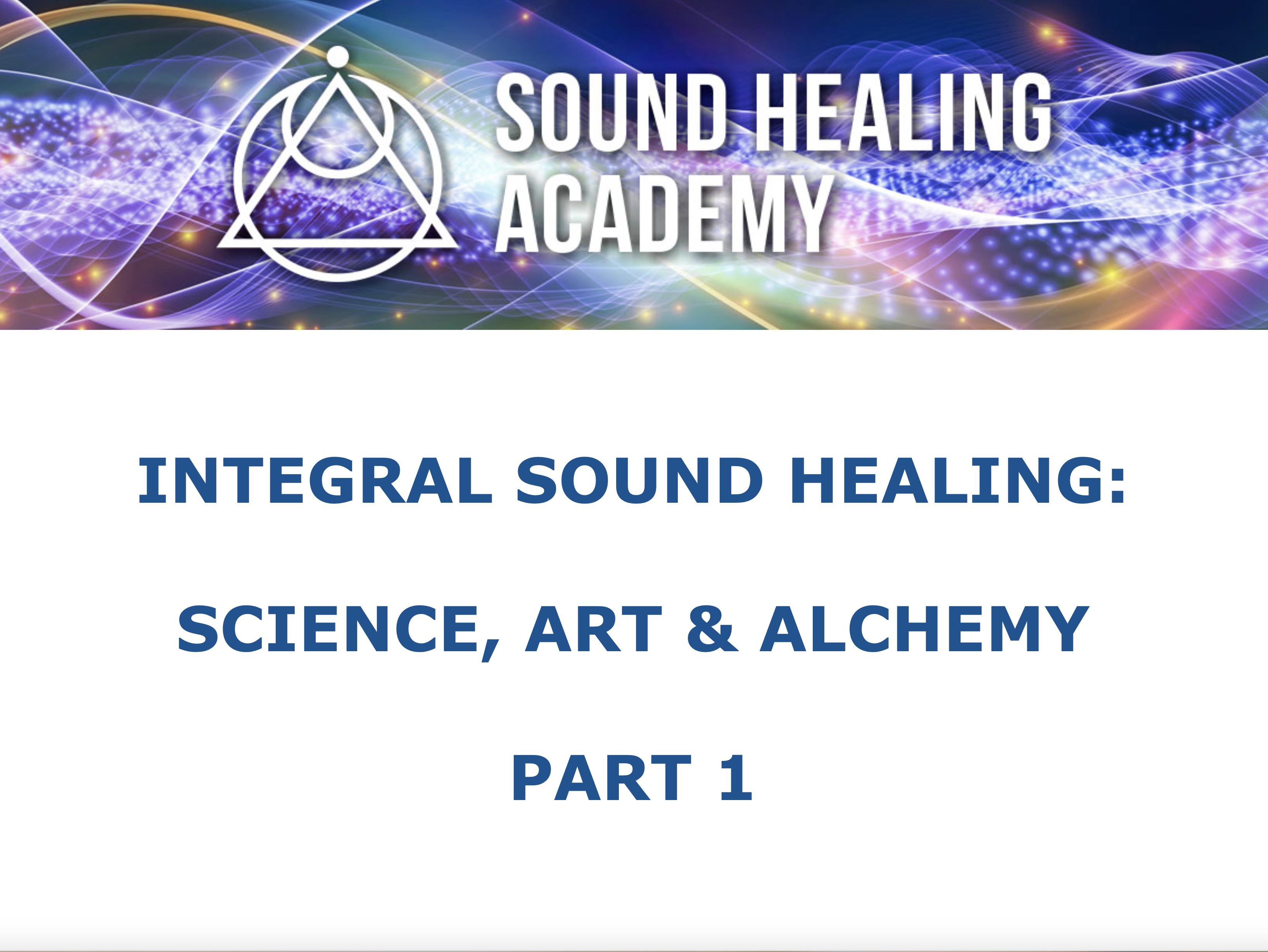 Integral Sound Healing 01